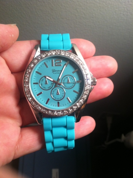 Silicone watch from Charming Charlie's
