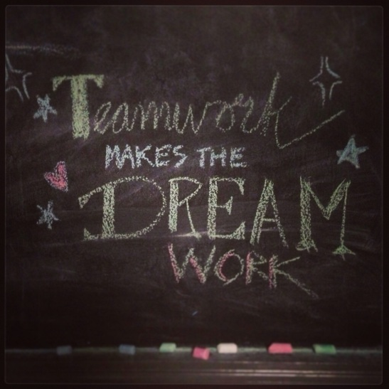 chalkboard teamwork - Julie101.com